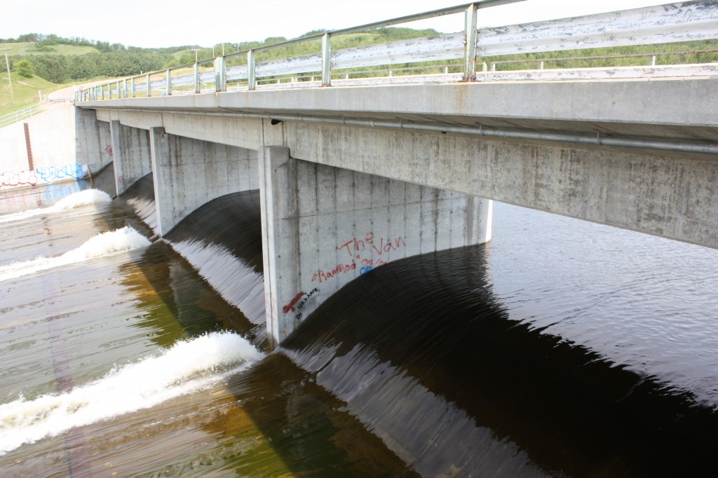Spillway at the dam.